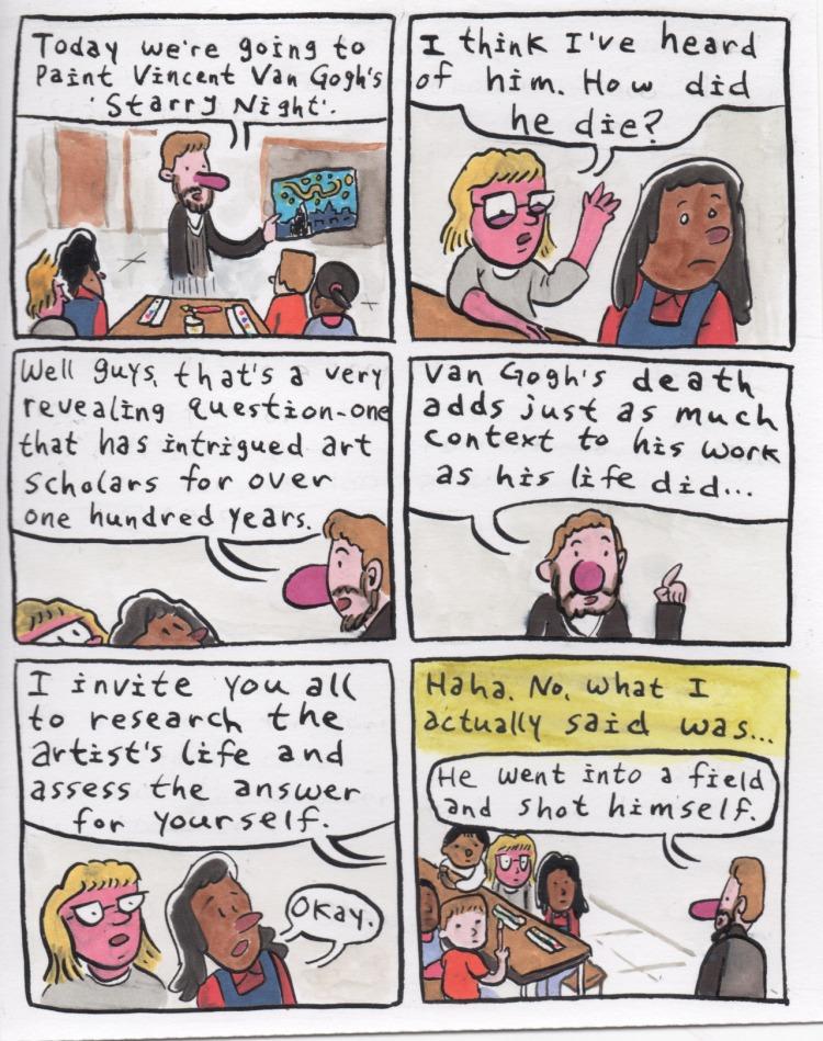 Teaching Comics - Starry Night